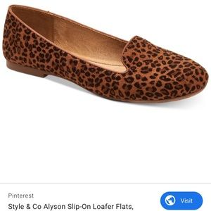 Style & Co. Leopard Loafers